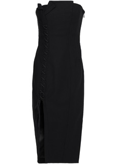 Cinq a Sept Cinq À Sept Woman Charlotte Strapless Split-front Jersey Midi Dress Black