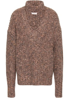 Cinq a Sept Cinq À Sept Woman Cutout Marled Knitted Sweater Sand