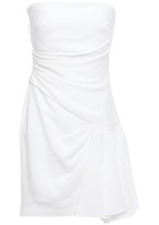 Cinq a Sept Cinq À Sept Woman Ella Strapless Draped Ruffled Crepe Mini Dress White