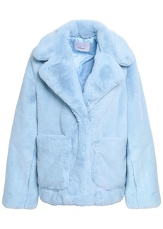 Cinq a Sept Cinq À Sept Woman Faux Fur Coat Light Blue