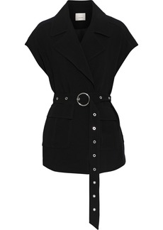 Cinq a Sept Cinq À Sept Woman Hunter Belted Crepe Jacket Black