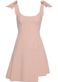 Cinq a Sept Cinq À Sept Woman Jeanette Bow-detailed Cady Mini Dress Baby Pink