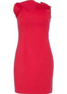 Cinq a Sept Cinq À Sept Woman Marcy Strapless Ruffle-trimmed Cady Mini Dress Fuchsia