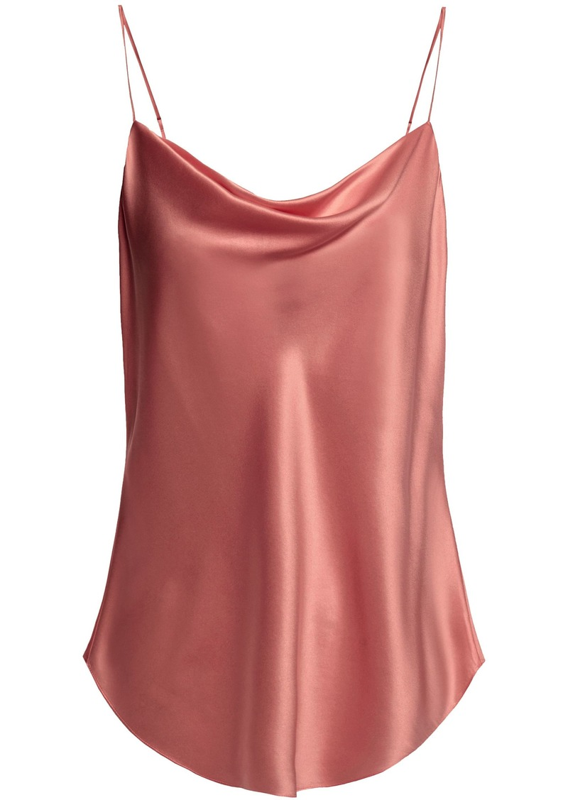 Cinq a Sept Cinq À Sept Woman Marta Draped Silk-charmeuse Camisole Antique Rose
