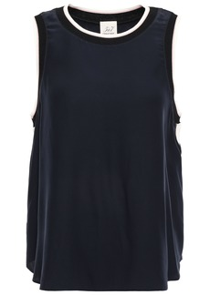 Cinq a Sept Cinq À Sept Woman Nicola Silk Crepe De Chine Top Midnight Blue