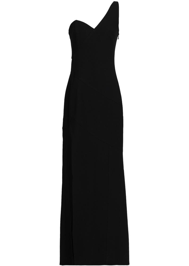 Cinq a Sept Cinq À Sept Woman One-shoulder Stretch-crepe Gown Black