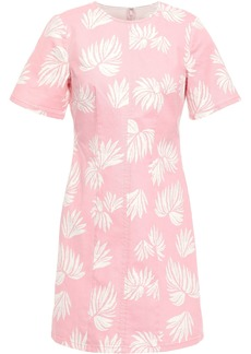 Cinq a Sept Cinq À Sept Woman Phoenix Madison Printed Stretch-cotton Twill Mini Dress Baby Pink