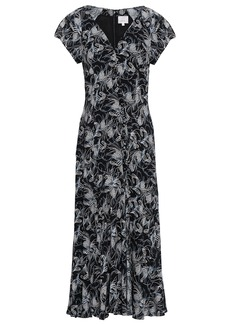 Cinq a Sept Cinq À Sept Woman Printed Crepe De Chine Midi Dress Black
