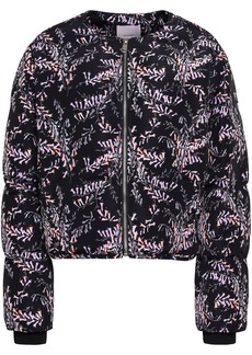 Cinq a Sept Cinq À Sept Woman Printed Shell Bomber Jacket Black