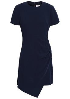 Cinq a Sept Cinq À Sept Woman Ruched Crepe Mini Dress Navy