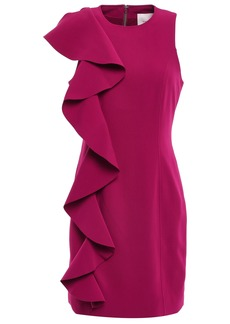 Cinq a Sept Cinq À Sept Woman Kimberlin Ruffled Brushed-crepe Mini Dress Magenta