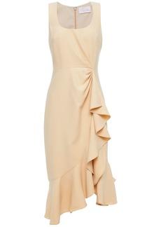 Cinq a Sept Cinq À Sept Woman Ruffled Gathered Woven Dress Beige