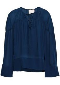 Cinq a Sept Cinq À Sept Woman Silk Blouse Royal Blue
