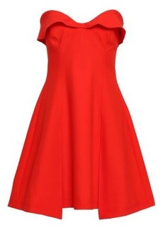 Cinq a Sept Cinq À Sept Woman Strapless Flared Cady Mini Dress Tomato Red