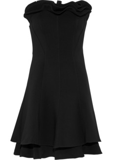 Cinq a Sept Cinq À Sept Woman Tansy Strapless Ruffled Crepe Mini Dress Black