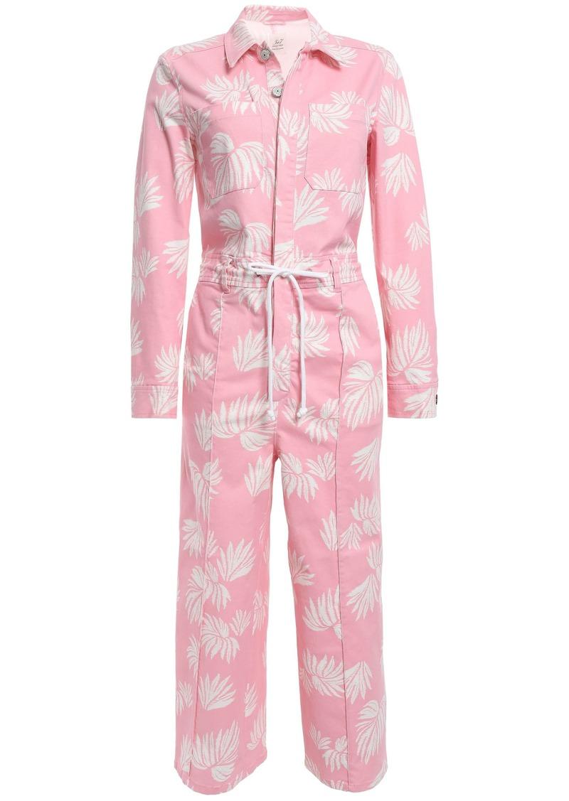 Cinq a Sept Cinq À Sept Woman Tous Les Jours Jubilee Cotton-blend Twill Jumpsuit Baby Pink