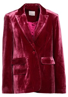 Cinq a Sept Cinq À Sept Woman Velvet Blazer Grape