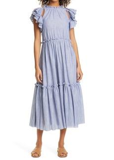 Cinq a Sept Cinq à Sept Yanin Stripe Cotton Dress