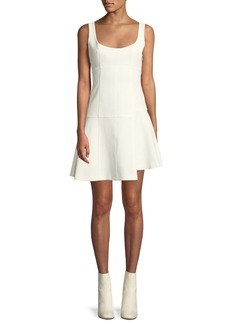 cinq a sept Annette Scoop-Neck Sleeveless Fit-and-Flare Mini Dress