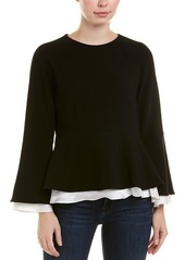 Cinq A Sept Avalon Silk-Trim Top