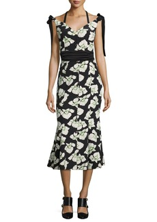 cinq a sept Blakely Floral-Print Mermaid Midi Dress