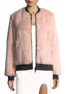 cinq a sept Corban Fur Reversible Bomber Jacket