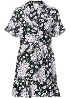 Cinq A Sept floral print shirt dress - Black
