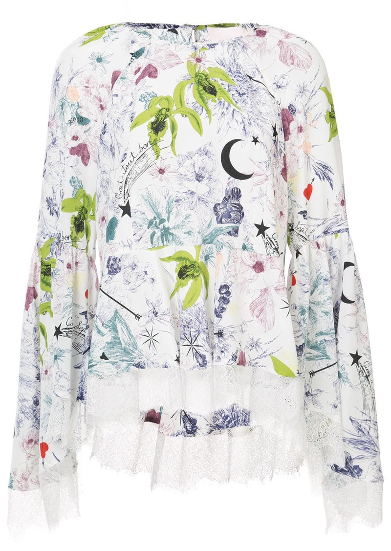 Cinq A Sept floral printed blouse - White