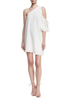 cinq a sept Gemini Asymmetric Shift Dress