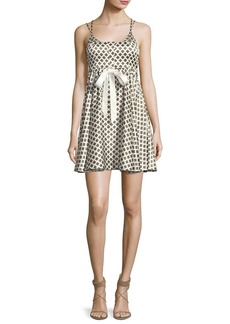 Cinq a Sept Geneva Printed Silk Mini Dress