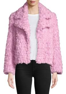 cinq a sept Georgia Faux-Fur Button-Front Jacket