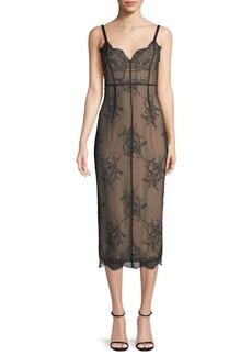 cinq a sept Gigi V-Neck Sleeveless Lace Dress