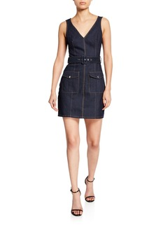 cinq a sept gwyneth sleeveless mini denim dress