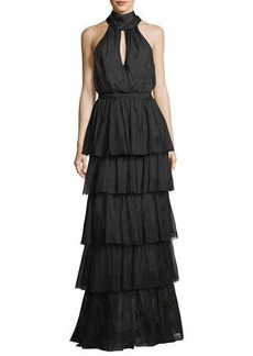 cinq a sept Harmonia Tiered-Skirt Gown