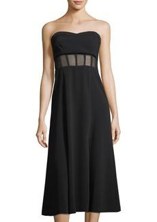 cinq a sept Honora Bustier Midi Dress