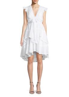 cinq a sept Jourdana Cotton Lace-Trim Dress