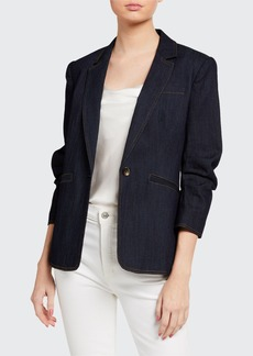 cinq a sept Khloe Denim Blazer