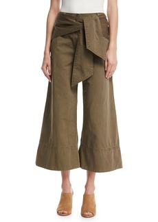 cinq a sept Knox Belted Twill Culottes