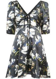 Cinq A Sept laced detail floral dress - Grey
