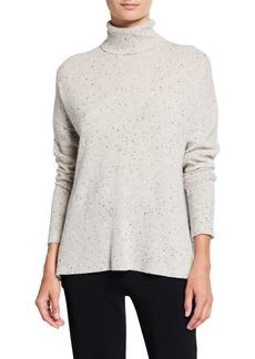 cinq a sept Layla Speckled Cashmere Turtleneck Sweater