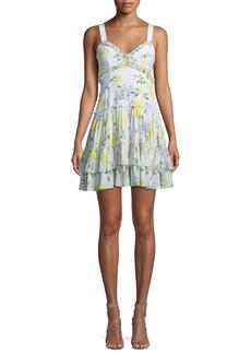 cinq a sept Livia Floral-Print Ruffle Mini Dress