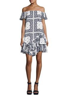 cinq a sept Minella Off-the-Shoulder Paisley Dress