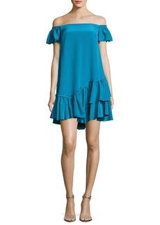 cinq a sept Minella Off-the-Shoulder Ruffled Mini Dress