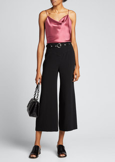 cinq a sept Polly Belted Wide-Leg Pants