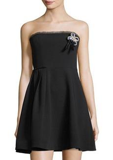 cinq a sept Ruby Strapless Mini Dress