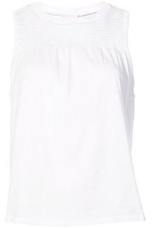 Cinq A Sept ruched sleeveless blouse - White