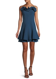 cinq a sept Tansy Strapless Ruffle Cocktail Dress