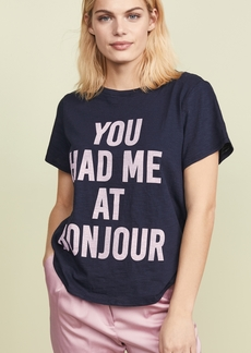 Cinq a Sept You Had Me at Bonjour Tee
