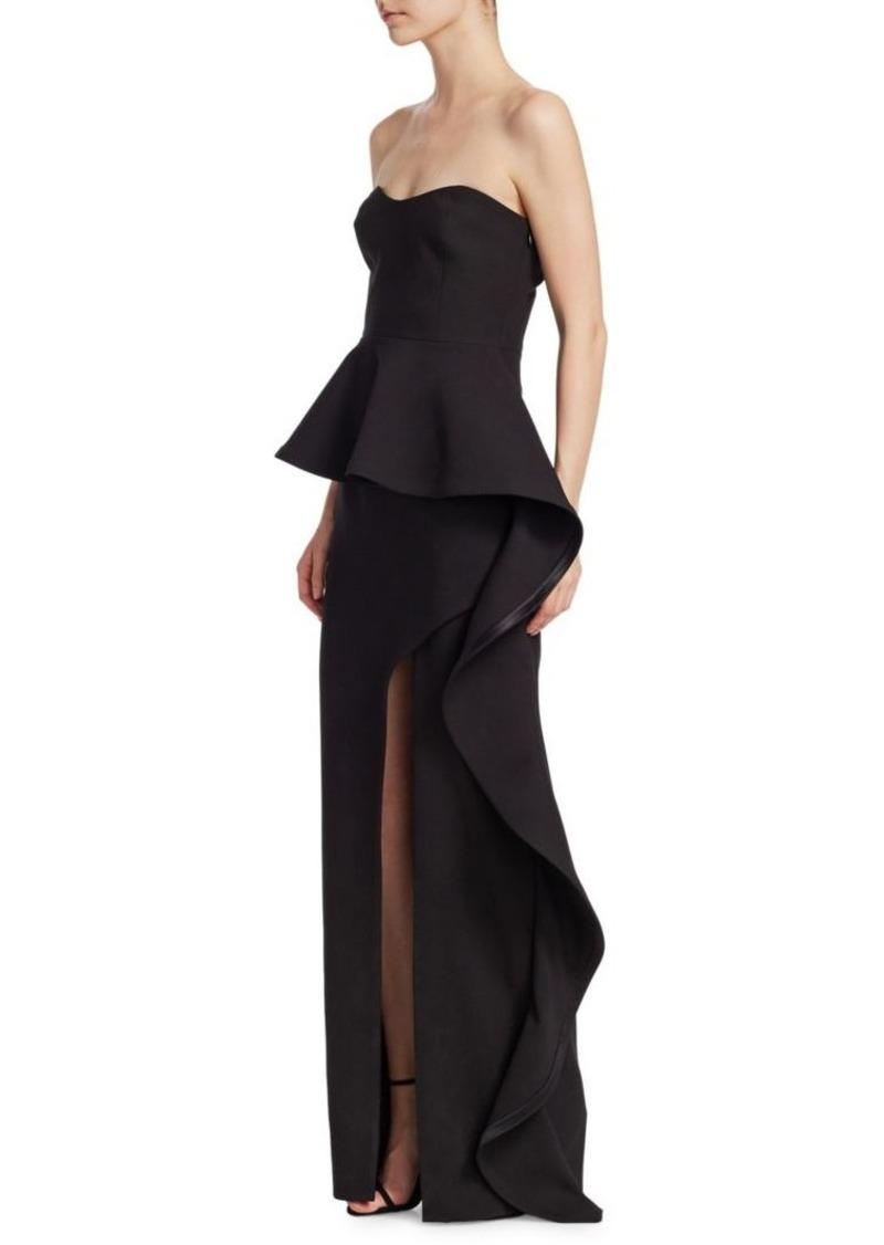 Cinq a Sept Clair Peplum Gown