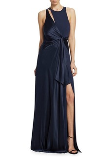 Cinq a Sept Clemence Neck Detail Gown